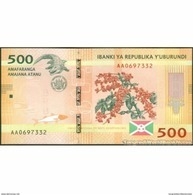TWN - BURUNDI 50 - 500 Francs 15.1.2015 Prefix AA UNC - Burundi
