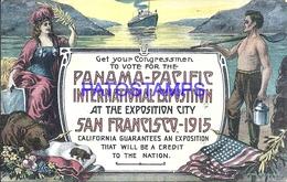 108337 US CALIFORNIA SAN FRANCISCO 1915 EXPOSITION PANAMA PACIFIC PATRIOTIC FLAG POSTAL POSTCARD - Ohne Zuordnung