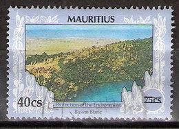 Timbre Maurice 1991 Y&T N°761 ? (06) Oblitéré. Bassin Blanc. 40Cs Sur 75Cs. Cote ??? € - Maurice (1968-...)