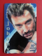 Johnny Hallyday 50u TELEGOLD 250 Exemplaires Prépayée Used - Personnages