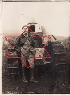 Photo 14-18 Soldat Du 505éme R.A.S. Devant Son Tank Renault FT 17, Char D'assaut, Panzer (A206, Ww1, Wk 1) - War 1914-18