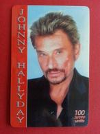 Johnny Hallyday 100u TELEGOLD 250 Exemplaires Prépayée Used - Personnages