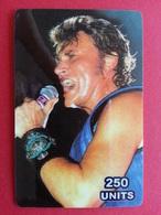 Johnny Hallyday 250u TELECOM CANADA 250 Exemplaires Prépayée Numérotée Used 31.05.2003 - Personnages