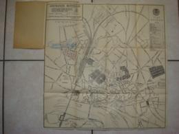 Ancien Plan De NEVERS (Nièvre), Assurances Mutuelles (46 Cm Sur 47,5 Cm) Excellent état, 3 Scans - Cartes