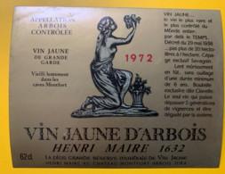 10061 - Vin Jaune D'Arbois 1972 Henri Maire Jura - Etiquettes
