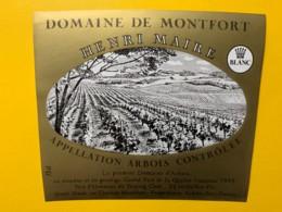 10070 - Domaine De Montfort Blanc Arbois Jura Henri Maire - Etiquettes