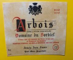 10071 - Arbois Domaine Du Sorbief  Rosé Corail Jura Henri Maire - Etiquettes