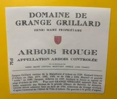 10073 - Arbois Domaine De Grange Grillard  Jura Henri Maire - Etiquettes