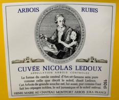 10076 - Arbois Rubis Cuvée Nicolas Ledoux Henri Maire Jura - Etiquettes