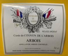 10077 - Cuvée Du Citoyen De L'Arbois Rouge Ardent  Henri Maire Jura - Etiquettes