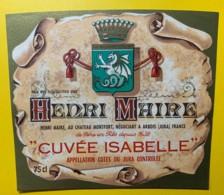 10080 - Côtes Du Jura  Cuvée Isabelle  Henri Maire - Etiquettes