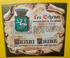 10081 - Côtes Du Jura  Les Echenoz Rouge & Chaud  Henri Maire - Etiquettes