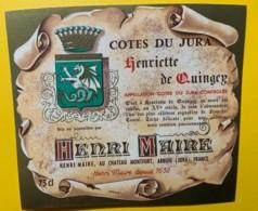 10082 - Côtes Du Jura  Henriette De Quingey Henri Maire - Etiquettes