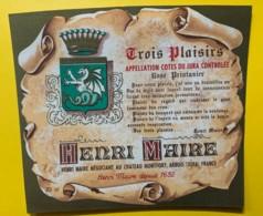 10083 - Côtes Du Jura  Rtois Plaisirs Rosé Printanier Henri Maire - Etiquettes