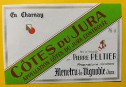 10085 - Côtes Du Jura  En Charnay Pierre Peltier Menetru Le Vignoble - Etiquettes