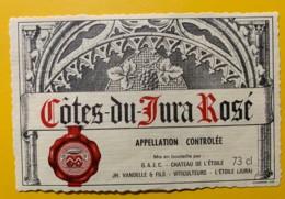 10084 - Côtes Du Jura  Rosé Et Rouge 2 étiquettes - Etiquettes
