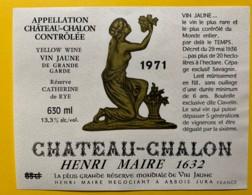 10088 - Vin Jaune Château-Châlon 1971 Réserve Catherine De Rye Henri Maire Arbois Jura - Etiquettes