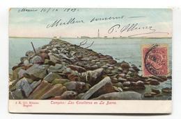 Tampico, Mexico - Las Escolleras En La Barra - 1909 Used Postcard - Mexique