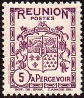 Réunion N° Taxe 16 ** Armoiries Le 5 Cts Lilas - Timbres-taxe