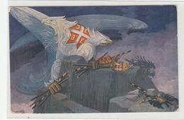 Vsesokolski Zlet V Ljubljani - Sokol 1922 - White Eagle - Old Unused Postcard B190301 - Slowenien