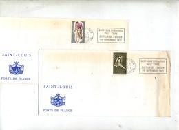 Lettre Flamme Saint Louisetape Tour De L'avenir Theme Cyclisme - Marcophilie (Lettres)