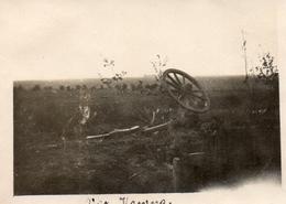 PHOTO ALLEMANDE - LITHUANIA LITUANIE - ATTELAGE DÉTRUIT DEVANT KOWNO - KAUNAS - GUERRE 1914 1918 - 1914-18