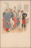 Un Groupe De Soldats Français, C.1900 - CPA - Künstlerkarten