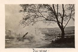 PHOTO ALLEMANDE - LITHUANIA LITUANIE - INCENDIE A KOWNO - KAUNAS - GUERRE 1914 1918 - 1914-18