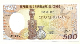 Repubblica Popolare Del Congo - 500 Francs 1991 - Congo