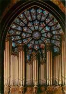 Art - Vitraux Religieux - Paris - Cathédrale Notre Dame - La Rosace Ouest Et Les Grandes Orgues - Voir Scans Recto-Verso - Tableaux, Vitraux Et Statues