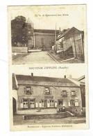 CPA 57 - Souvenir D'Ippling - Restaurant Epicerie Frédéric Soissons - Eglise Et Monument Aux Morts - Autres Communes