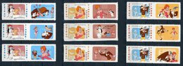 RC 11781 FRANCE N° 160A / 162A  TEX AVERY DESSINS ANIMÉS AUTOADHÉSIFS COTE 72,00€ TB - Adhesive Stamps