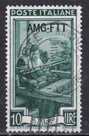 Repubblica Italiana, 1950/53 - AMG-FTT 10 Lire Italia Al Lavoro Fil. Ruota - Nr. 94 Usato° - Used