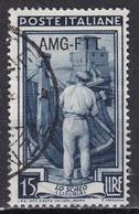 Repubblica Italiana, 1950/53 - AMG-FTT 15 Lire Italia Al Lavoro Fil. Ruota - Nr. 96 Usato° - Used