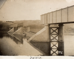 PHOTO ALLEMANDE - LITHUANIA LITUANIE - UN PONT DETRUIT A KOWNO - KAUNAS - GUERRE 1914 1918 - 1914-18