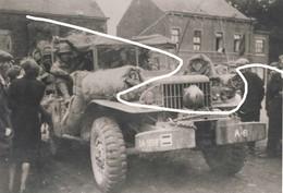 JL 1 Septembre 1944 Libération Région Beaumont/Walcourt (probablement Clermont) US Army Véhicule Repros - 1939-45