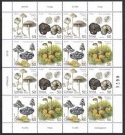 Serbia 2019 Flora Plants Mushrooms Champignons Pilzen Fungi Sheet MNH - Champignons