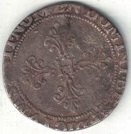 France Henri III Franc Au Col Plat – 1586M (Toulouse) - 476-1789 Monnaies Seigneuriales