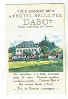 CPA 57 Pub -  Dabo - Hotel Belle Vue - 1934 - Dabo