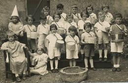 Carte Photo Fete Enfantine Tambour Roi Reine Couronne  Fete Des Rois - Enfants