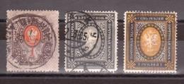 Russie - 1889/1904 - N° 52, 53 Et 54 - Foudres Dans Les Cors De Poste - 1857-1916 Empire