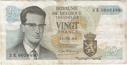 Bélgica - Belgium 20 Francs 15-6-1954 Pk 138  Ref 3 - [ 2] 1831-... : Reino De Bélgica