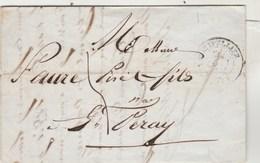 Lettre De Bimar & Glaize MONTPELLIER Hérault 27/8/1841 Taxe Manuscrite Pour Faure à St Peray Ardèche Passe Valence - Marcophilie (Lettres)