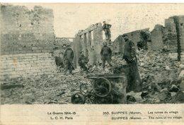 SUIPPES - LOT De 3 Cartes Sur La Guerre 1914 15 Avec Brassard Croix Rouge écrite Par Le Même Soldat - France