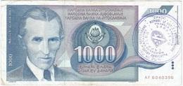 Bosnia Y Herzegovina 1000 Dinara 1992 Sarajevo Pk 2 E Ref 4 - Bosnien-Herzegowina