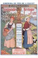 CHEMIN DE FER DE L OUEST  PUBLICITE   BRETAGNE NORMANDIE - Chemins De Fer