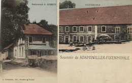 Souvenir De ADAMSWILLER  FIXENMUHLE  Restaurant A Schmitt Fixenmuhle Colorisée RV - France