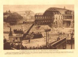 "LA TRANSFORMATION De La   "" GARE De L'EST  "" DEMOLITION De L'ANCIEN GRAND HALL   1930 - Railway & Tramway"