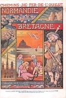 CHEMIN DE FER DE L OUEST  PUBLICITE   BRETAGNE NORMANDIE ILLUSTRATEUR - Chemins De Fer