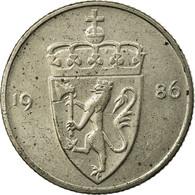 Monnaie, Norvège, Olav V, 50 Öre, 1986, TTB, Copper-nickel, KM:418 - Norvège